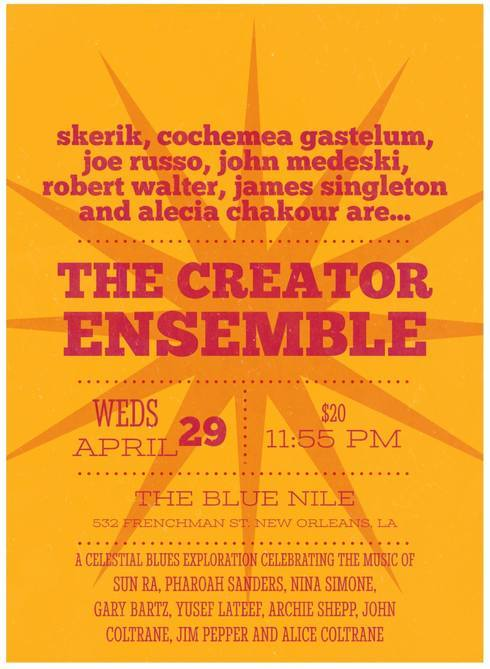 The Creator Ensemble at Blue Nile